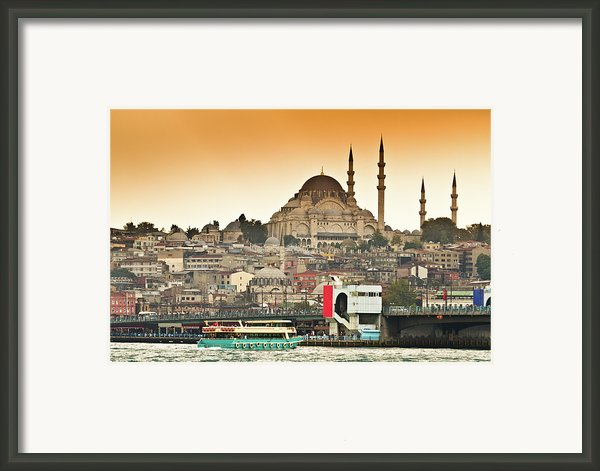 View Of Istanbul Framed Print By (c) Thanachai Wachiraworakam