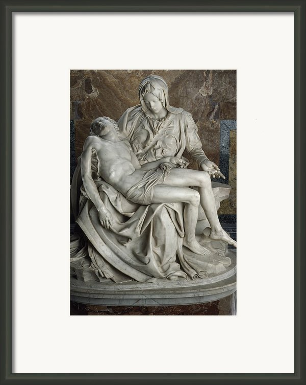 View Of Michelangelos Famous Sculpture Framed Print By James L. Stanfield