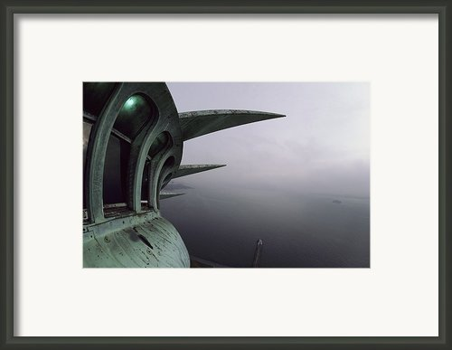 View Of New York Harbor From The Top Framed Print By Paul Chesley