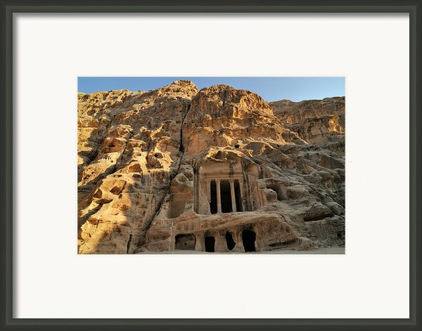 View Of Pequeña Petra Framed Print By Molina