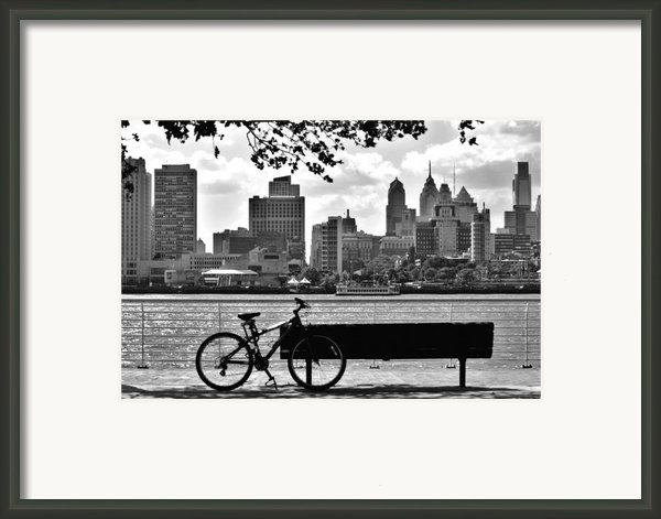 View Of Philadelphia  Framed Print By Andrew Dinh