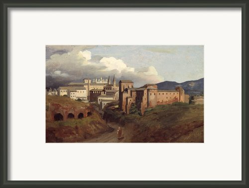 View Of Saint John Lateran Rome Framed Print By Joseph Desire Court