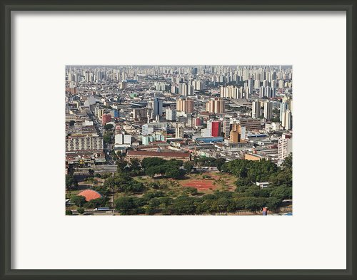 View Of Sao Paulo Skyline Framed Print By Jacobo Zanella
