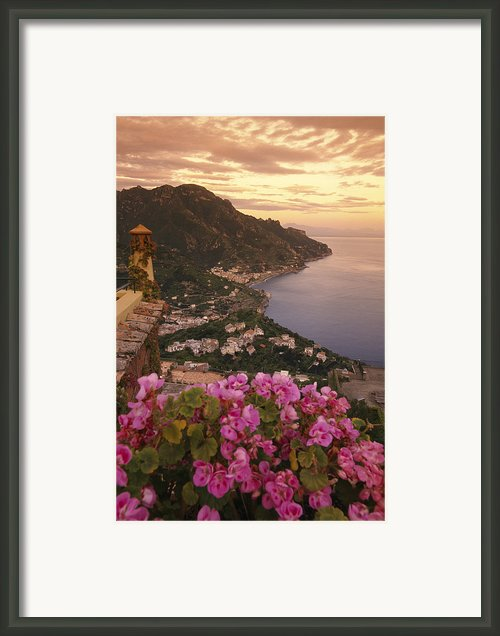 View Of The Coastline From The Hotel Framed Print By Richard Nowitz