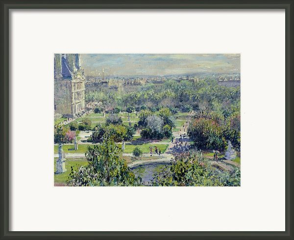 View Of The Tuileries Gardens Framed Print By Claude Monet