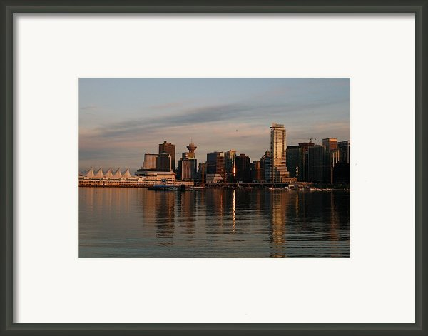 View Of The Waterfront And Downtown Framed Print By Darlyne A. Murawski