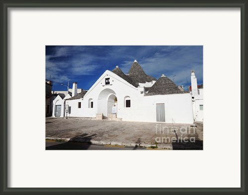 View Of Trullo Sovrano Framed Print By Gualtiero Boffi