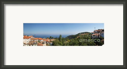 View Of Vouriotes Framed Print By Maria Varnalis