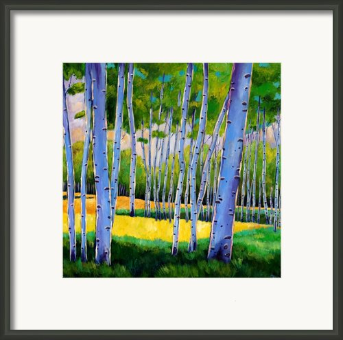 View Through Aspen Framed Print By Johnathan Harris