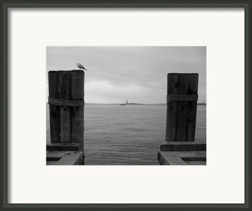 View Toward Statue Of Liberty In Nyc Framed Print By Utopia Concepts