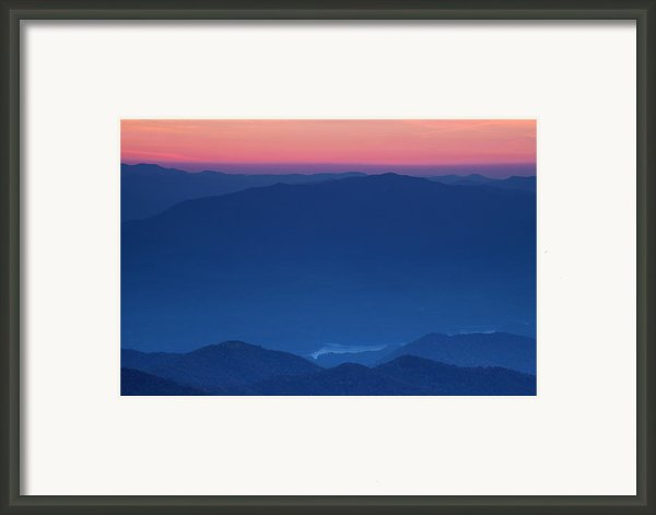 View Towards Fontana Lake At Sunset Framed Print By Andrew Soundarajan
