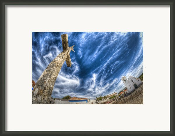 Village Cross Framed Print By Nathan Wright