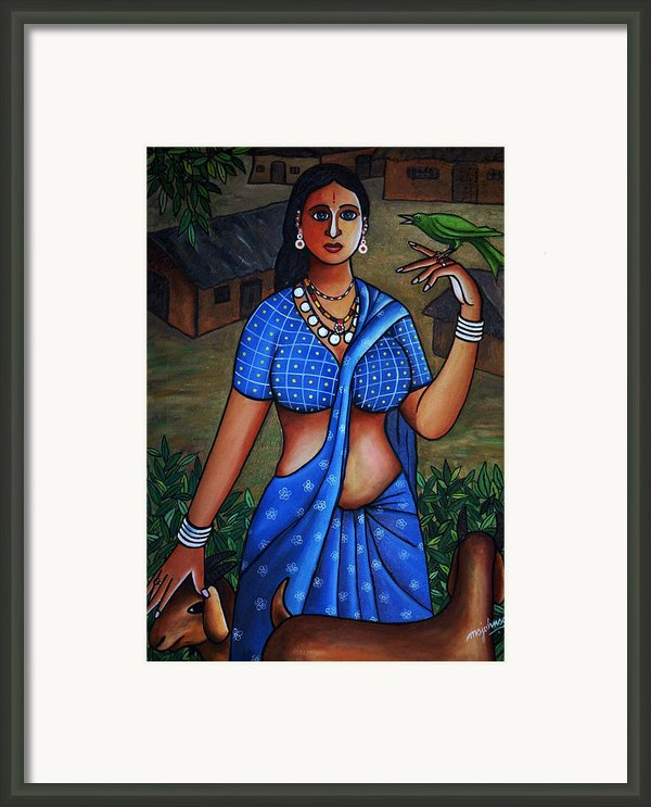 Village Girl Framed Print By Johnson Moya