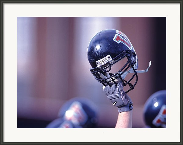 Villanova Helmet Framed Print By Jerry Millevoi