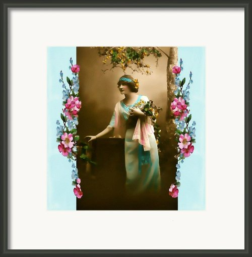 Vintage Aqua Framed Print By Mary Morawska