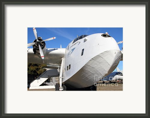 Vintage Boac British Overseas Airways Corporation Speedbird Flying Boat . 7d11255 Framed Print By Wingsdomain Art And Photography