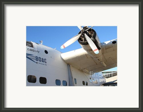 Vintage Boac British Overseas Airways Corporation Speedbird Flying Boat . 7d11279 Framed Print By Wingsdomain Art And Photography