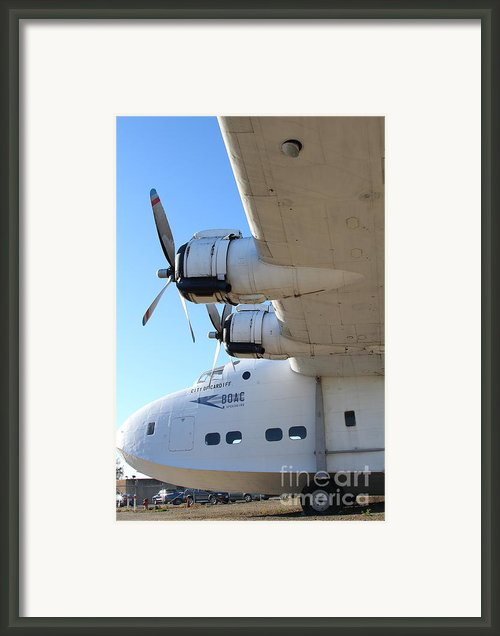 Vintage Boac British Overseas Airways Corporation Speedbird Flying Boat . 7d11289 Framed Print By Wingsdomain Art And Photography