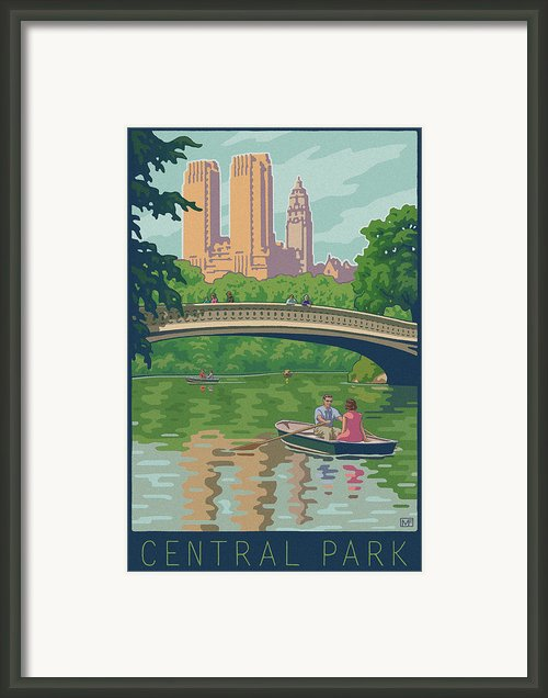Vintage Central Park Framed Print By Mitch Frey