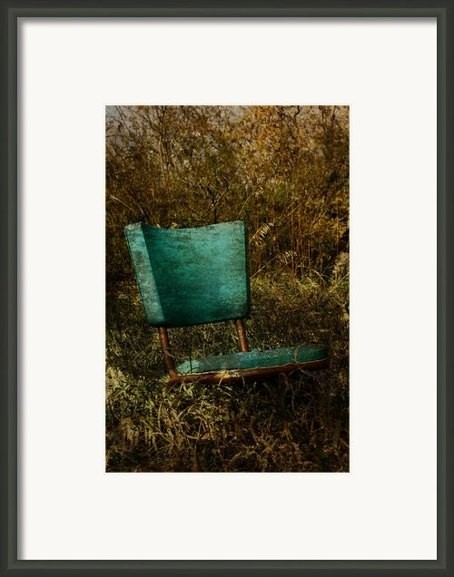 Vintage Chair Framed Print By Larysa Luciw