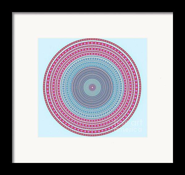 Vintage Color Circle Framed Print By Atiketta Sangasaeng