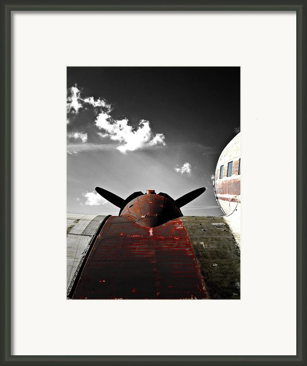 Vintage Dc-3 Aircraft  Framed Print By Steven  Digman