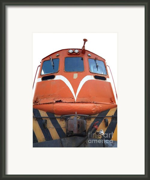 Vintage Diesel Engine Framed Print By Yali Shi