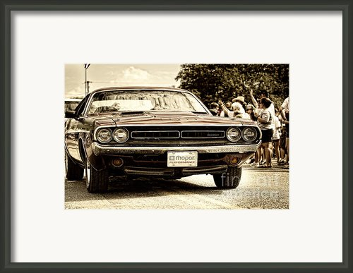 Vintage Dodge Charger Framed Print By Andre Babiak