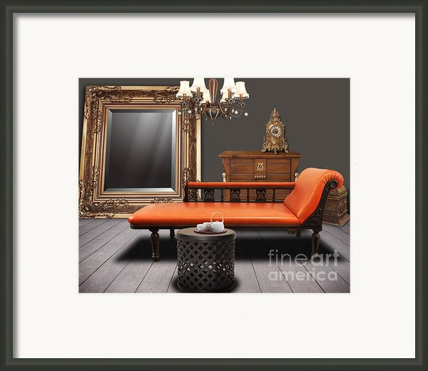 Vintage Furnitures Framed Print By Atiketta Sangasaeng