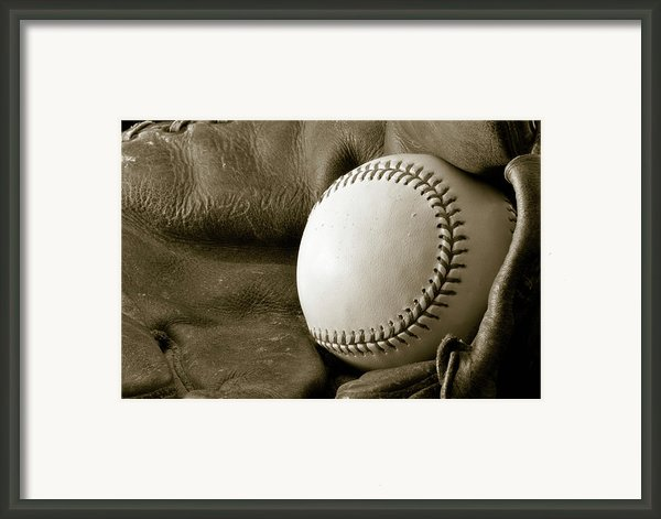 Vintage Glove Framed Print By Shawn Wood