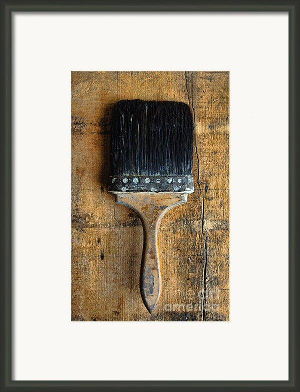 Vintage Paint Brush Framed Print By Jill Battaglia