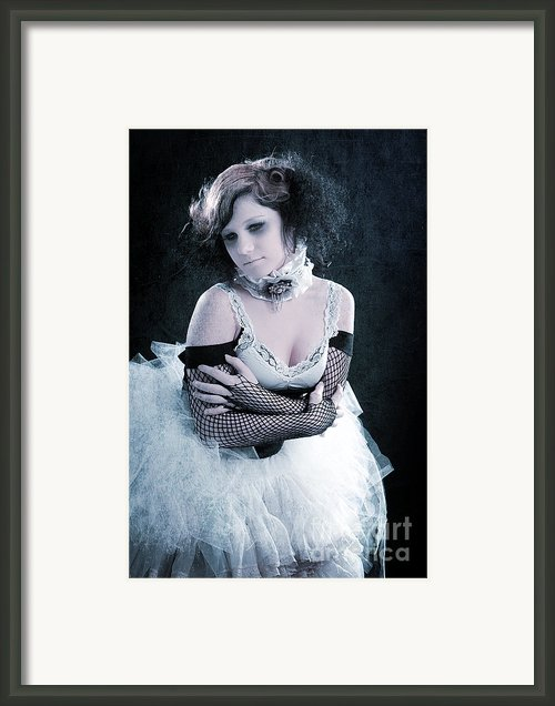 Vintage Portrait Of A Dancer Framed Print By Cindy Singleton