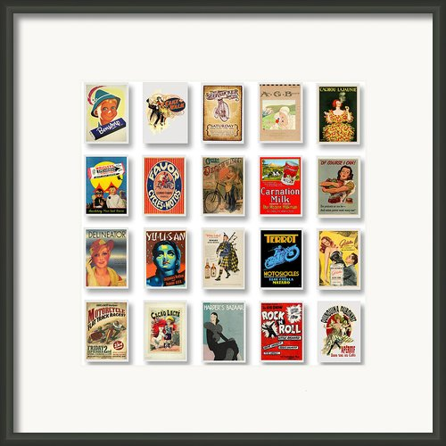 Vintage Poster Collections 01 Framed Print By Maria Szollosi
