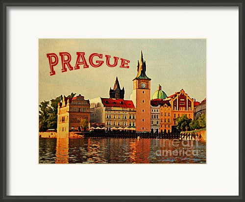 Vintage Prague Framed Print By Vintage Poster Designs