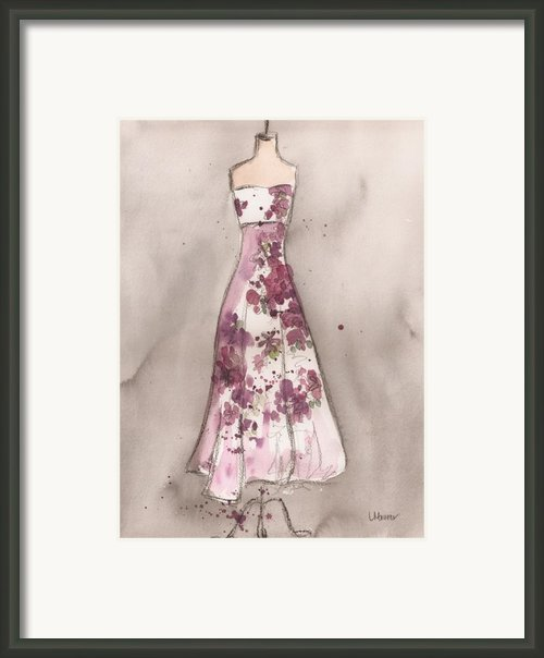 Vintage Romance Dress Framed Print By Lauren Maurer