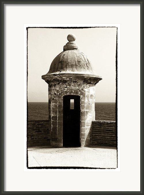 Vintage San Juan Guard Tower Framed Print By John Rizzuto