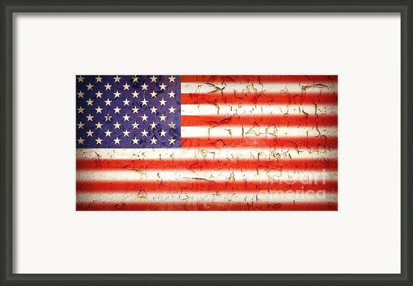 Vintage Stars And Stripes Framed Print By Jane Rix