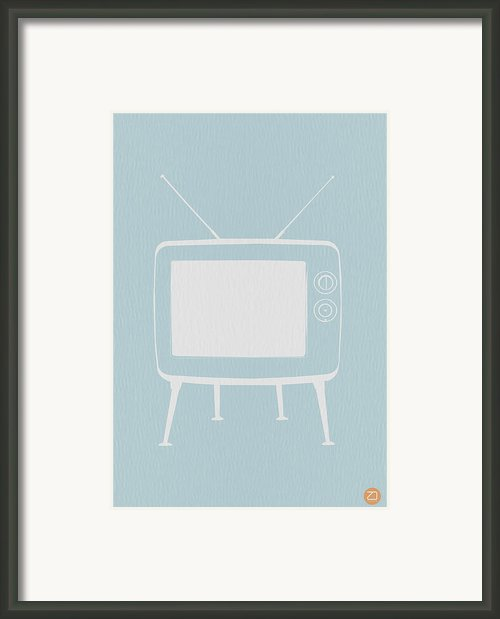 Vintage Tv Poster Framed Print By Irina  March