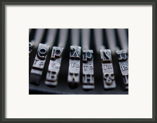 Vintage Typewriter Keys Framed Print By June Marie Sobrito