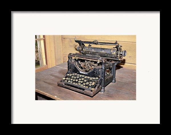 Vintage Typewriter Framed Print By Susan Leggett