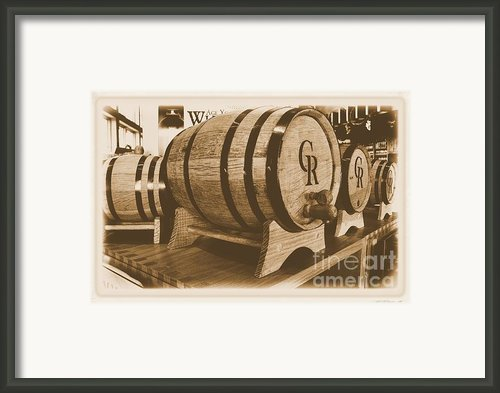 Vintage Winery Photo Framed Print By Marsha Heiken