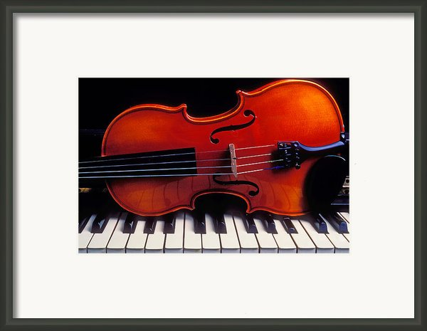 Violin On Piano Keys Framed Print By Garry Gay