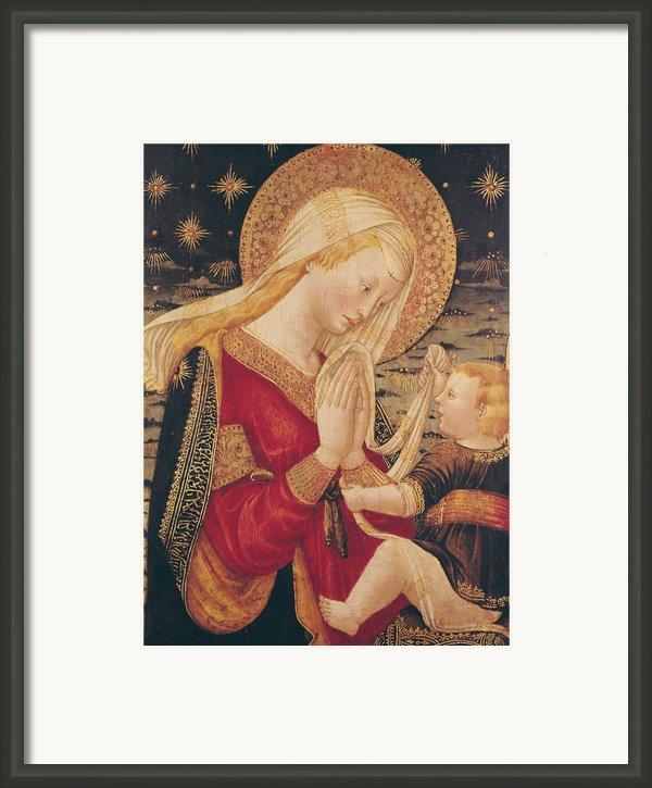 Virgin And Child  Framed Print By Neri Di Bicci