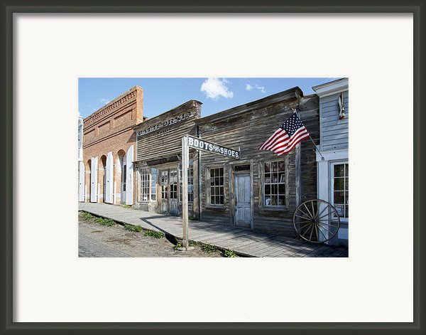Virginia City Ghost Town - Montana Framed Print By Daniel Hagerman