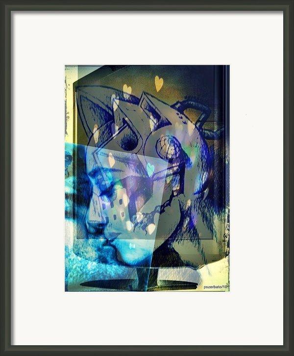 Virtual Kiss 1 Framed Print By Paulo Zerbato