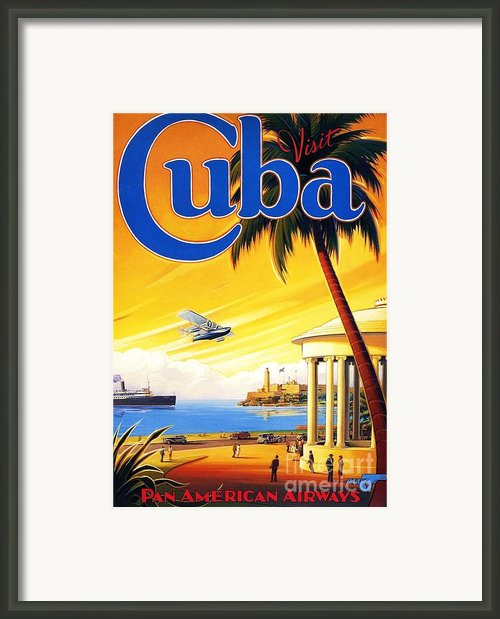 Visit Cuba Framed Print By Reproduction