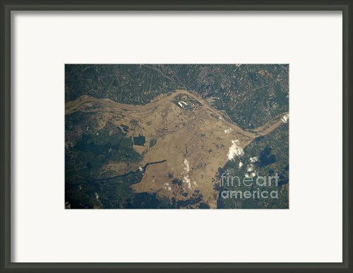 Vistula River Flooding, Southeastern Framed Print By Nasa/science Source