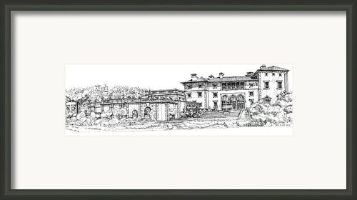 Vizcaya Museum In Miami Framed Print By Lee-ann Adendorff