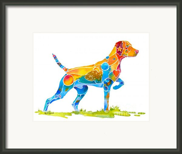 Vizsla On Point Framed Print By Jo Lynch