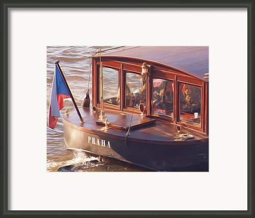 Vltava River Boat Framed Print By Shawn Wallwork